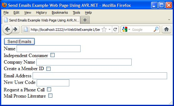 web example send emails avr form aspx